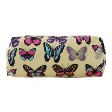 PC - Miss Lulu Canvas Pencil Case Butterfly Beige